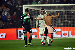 "Foto Filippo Rubin<br /> 10/02/2019 Reggio Emilia (Italia)<br /> Sport Calcio<br /> Sassuolo - Juventus - Campionato di calcio Serie A 2018/2019 - Stadio ""Mapei Stadium""<br /> Nella foto: INVASIONE DI CAMPO CRISTIANO RONALDO (JUVENTUS)<br /> <br /> Photo Filippo Rubin<br /> February 10, 2019 Reggio Emilia (Italy)<br /> Sport Soccer<br /> Sassuolo vs Juventus - Italian Football Championship League A 2018/2019 - ""Mapei Stadium"" Stadium <br /> In the pic: FIELD INVASION CRISTIANO RONALDO (JUVENTUS)"