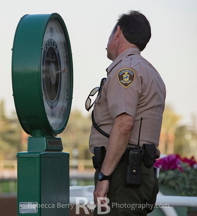 Security weighing-in at Santa Anita