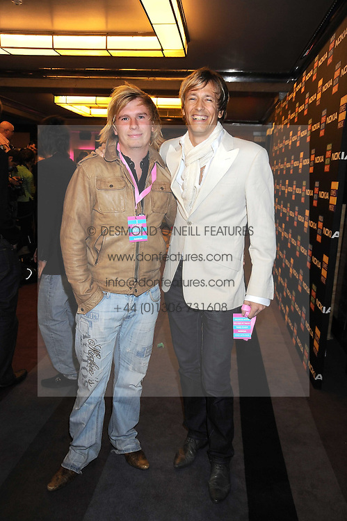 Left to right, HARRY PARFITT and RICK PARFITT Jnr at the launch of Nokia's 'Comes With Music' held at the Bloomsbury Ballroom, 37-63 Bloomsbury Square, London WC1 on 21st October 2008.