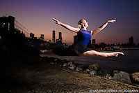 Brooklyn Bridge Park Leap featuring Taylor Gerrasch. Dance As Art- The New York Photography Project