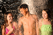 Kids enjoy the cool waters at Great Wolf Lodge in Grapevine, Texas.