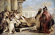 The Death of Dido' Giovanni Battista (Gianbattista) Tiepolo (1696-1770) Venetian painter. Dido (also called Elissa) founder and first Queen of Carthage on her funeral pyre. Legend Tunisia Self-sacrifice