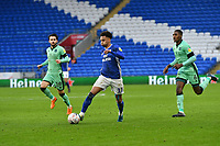 Football - 2019 / 2020 Emirates FA Cup - Third Round: Cardiff City vs. Carlisle United<br /> <br /> Josh Murphy of Cardiff City on the attack chased by Jack Bridge of Carlisle & Aaron Hayden of Carlisle, at Cardiff City Stadium.<br /> <br /> COLORSPORT/WINSTON BYNORTH