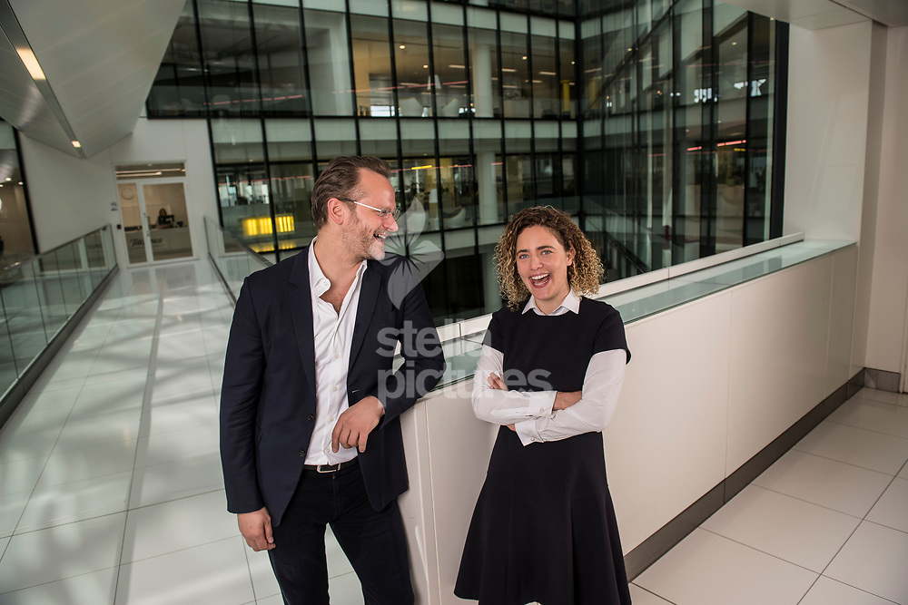 Tabitha Goldstaub, co founder, with Charlie Muirhead, CEO, of CognitionX, pictured at their central London offices. <br /> Picture by Daniel Hambury/Stella Pictures Ltd 07813022858<br /> 05/05/2017