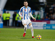 Huddersfield Town's Scott Malone  during the Premier League match between Huddersfield Town and West Bromwich Albion at the John Smiths Stadium, Huddersfield, England on 4 November 2017. Photo by Paul Thompson.