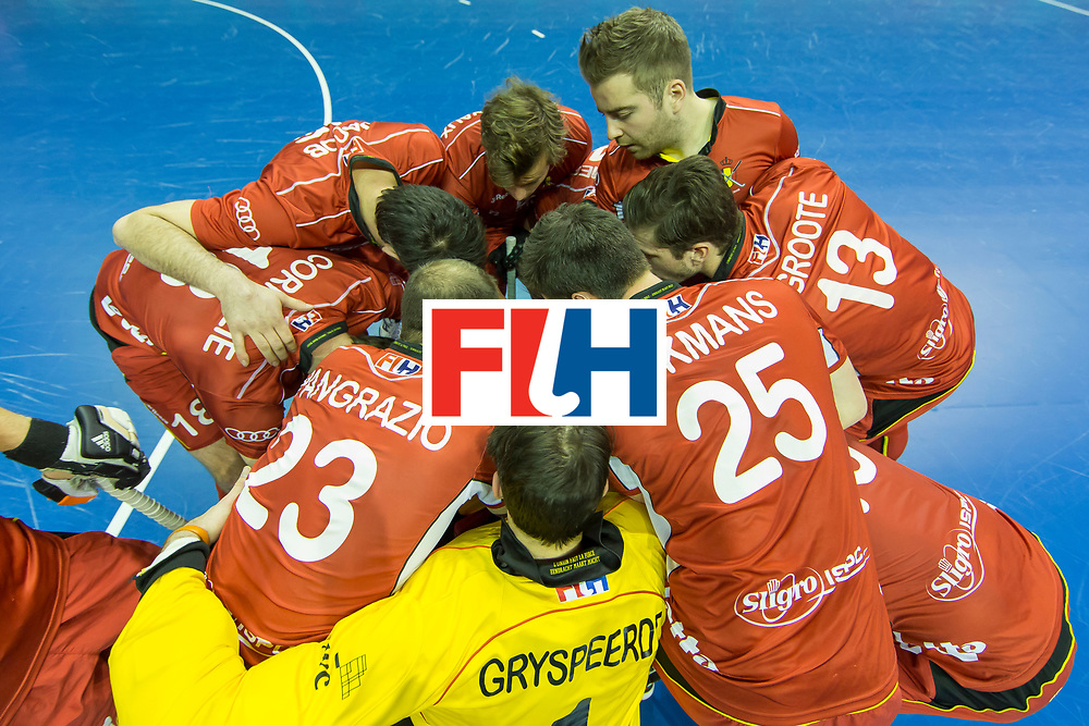 Hockey, Seizoen 2017-2018, 08-02-2018, Berlijn,  Max-Schmelling Halle, WK Zaalhockey 2018 MEN, Belgium - Russia 4-5,  Worldsportpics copyright Willem Vernes