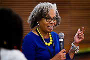 "Gloria Ladson-Billings speaks on the panel ""Education and Children of Color"" during the Cap Times 2017 Idea Fest, Sunday, September 17, 2017"