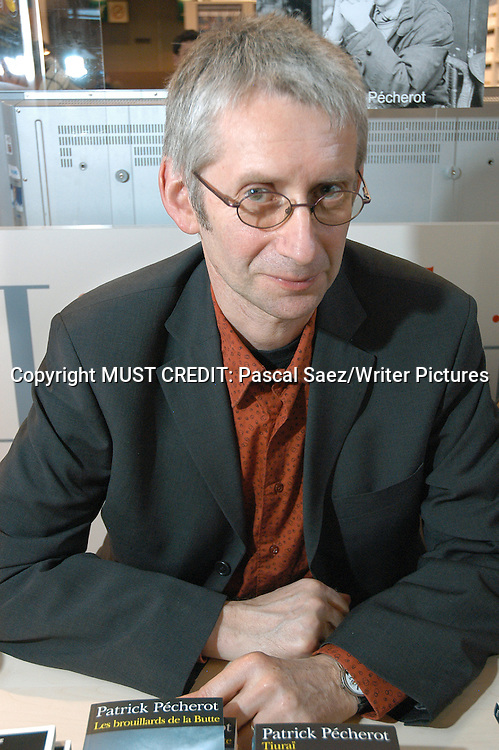 French Writer Patrick Pecherot at the Salon du Livre (Book Fair) in Paris, March 2006<br /> <br /> Copyright Pascal Saez<br /> Pascal Saez / Writer Pictures