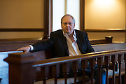 Mike Miller poses for a portrait at Old Harrison County Courthouse in Marshall, Texas on January 9, 2015. Miller is 55-years-old and planning on retiring from his law practice to concentrate on his health and happiness at the end of the month. (Cooper Neill for The New York Times)