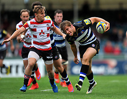 Max Clark of Bath Rugby - Mandatory byline: Patrick Khachfe/JMP - 07966 386802 - 13/09/2015 - RUGBY UNION - Memorial Stadium - Bristol, England - Gloucester Rugby v Bath Rugby - West Country Challenge Cup.