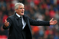 Stoke City manager Mark Hughes reacts - Mandatory by-line: Matt McNulty/JMP - 30/09/2017 - FOOTBALL - Bet365 Stadium - Stoke-on-Trent, England - Stoke City v Southampton - Premier League