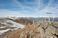 Millstätter Alpe, Nockberge mountains, with the Hohe Tauern in the distance. Alpe Adria Trail, Carinthia, Austria (October 2015) © Rudolf Abraham
