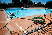 The Mangan Pool is closed in Sacramento, Calif. on July 1, 2011. Budget cuts have closed many of Sacramento's public pools.