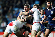 Scotland's Adam Walker (8 Hull KR) during the Ladbrokes Four Nations match between England and Scotland at the Ricoh Arena, Coventry, England on 5 November 2016. Photo by Craig Galloway.