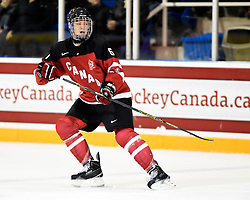 Sea Day of the Mississauga Steelheads represented Team Canada Red at the World Under-17 Hockey Challenge in Sarnia and Lambton, ON November 2-8, 2014. Photo by Aaron Bell/CHL Images