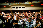 Audiences cheering excitedly. UK B-Boy championships 06. 08/10/2006