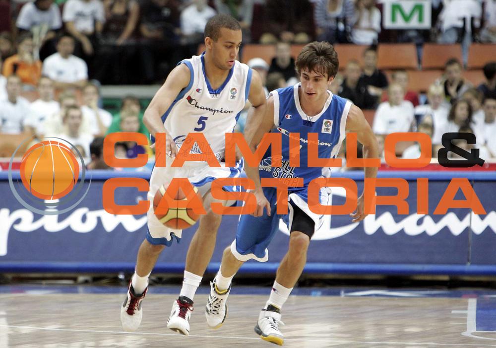 DESCRIZIONE : Katowice Poland Polonia Eurobasket Men 2009 Champion U18 All Star Game Team<br /> GIOCATORE : Andreas Person<br /> SQUADRA : white team<br /> EVENTO : Eurobasket Men 2009<br /> GARA : Champion U18 All Star Game<br /> DATA : 18/09/2009 <br /> CATEGORIA : <br /> SPORT : Pallacanestro <br /> AUTORE : Agenzia Ciamillo-Castoria/H.Bellenger<br /> Galleria : Eurobasket Men 2009 <br /> Fotonotizia : Katowice Poland Polonia Eurobasket Men 2009 Champion U18 All Star Game Team<br /> Predefinita :