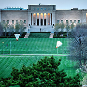 View of the Nelson Atkins Museum of Art, taken from top of one of the UMKC parking garages, Kansas City, MO.