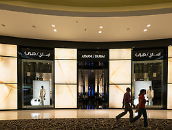 Armani store in Dubai Mall United Arab Emirates