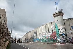 1 March 2020, Bethlehem: View of the separation wall running through Bethlehem.