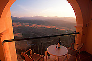 SPAIN, ANDALUSIA, RONDA view from National Parador balcony