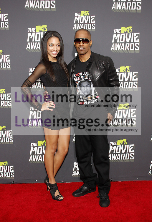 Jamie Foxx at the 2013 MTV Movie Awards held at the Sony Pictures Studios in Los Angeles, USA on April 14, 2013.
