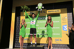 Michael Matthews (AUS) Team Sunweb retains the Green Jersey at the end of Stage 18 of the 104th edition of the Tour de France 2017, running 179.5km from Briancon to the summit of Col d'Izoard, France. 20th July 2017.<br /> Picture: Eoin Clarke | Cyclefile<br /> <br /> All photos usage must carry mandatory copyright credit (&copy; Cyclefile | Eoin Clarke)