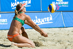 Larissa Franca of Brazil at A1 Beach Volleyball Grand Slam tournament of Swatch FIVB World Tour 2010, final, on July 31, 2010 in Klagenfurt, Austria. (Photo by Matic Klansek Velej / Sportida)