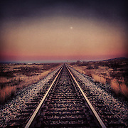 Train Tracks. Santa Rosa, New Mexico.