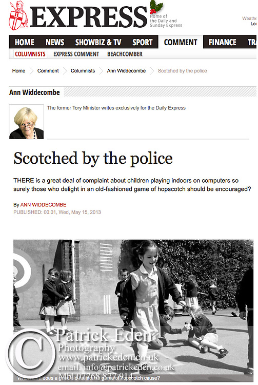 Ann Widdercombe, Scotched by the police, picture by © Patrick Eden