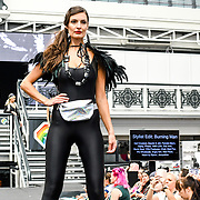 London, UK. 1st September, 2018. Hundreds of stalls at the LondonEdge 2018 | Authentic Lifestyle Fashion Trade Shows and exhibition and the first La Vegas show catwalk at Business Design Centre.