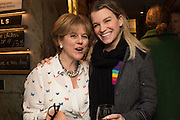 RACHEL KELLY; VISCOUNTESS HINCHINGBROOKE;Launch of The Happy Kitchen: Good Mood Food, by Rachel Kelly and Alice Mackintosh. Squirrel, South Kensington. London. 31 January 2017