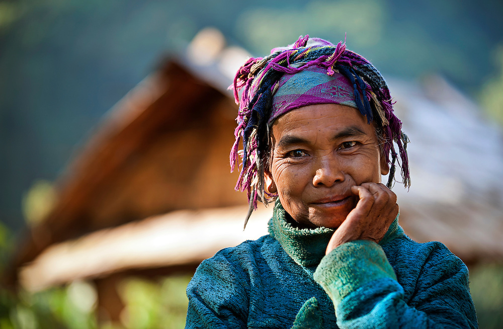 A woman near Hua Xai, Laos.