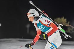 February 12, 2018 - Pyeongchang, Gangwon, South Korea - Monika Hojnisz ofPoland  competing at Women's 10km Pursuit, Biathlon, at olympics at Alpensia biathlon stadium, Pyeongchang, South Korea. on February 12, 2018. (Credit Image: © Ulrik Pedersen/NurPhoto via ZUMA Press)