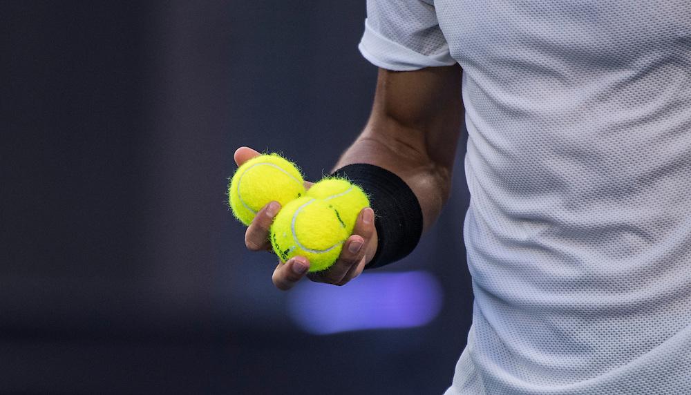 Rafael Nadal of Spain during the men's final on day fourteen of the 2017 Australian Open at Melbourne Park on January 29, 2017 in Melbourne, Australia.<br /> (Ben Solomon/Tennis Australia)