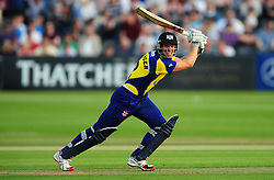 Michael Klinger of Gloucestershire plays a shot - Photo mandatory by-line: Dan Mullan/JMP - 07966 386802 - 16/05/2014 - SPORT - CRICKET - County Cricket Ground - Gloucester Cricket v Somerset Cricket - T20