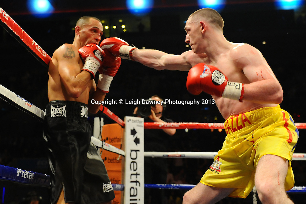 Jazza Dickens defeats Jon Fernandes in a 10x3 bout for the English Super-Bantamweight title at the Echo Arena, Liverpool, London, UK on the 30th March 2013. Matchroom Sport © Leigh Dawney Photography 2013.