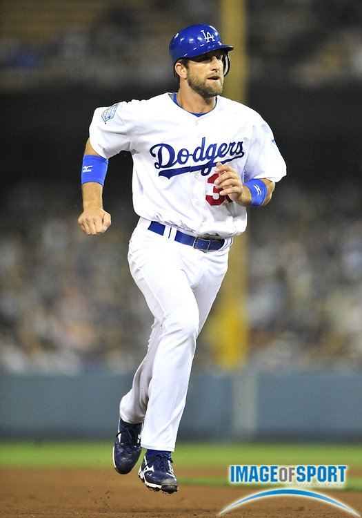 Jul 30, 2008; Los Angeles, CA, USA; Los Angeles Dodgers third baseman Casey Blake (30) rounds the bases during the Dodgers 4-0 victory over the San Francisco Giants at Dodger Stadium. Mandatory Credit: Kirby Lee/Image of Sport-US PRESSWIRE