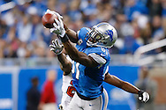 Detroit Lions wide receiver Calvin Johnson makes a catch in an NFL football game at Ford Field in Detroit, Sunday, Nov. 24, 2013. (AP Photo/Rick Osentoski)