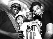 Hip hop legend Fab Five Freddy with Dave Russel Simmons (of Def Jam) and DJ Red Alert, USA, 1990's