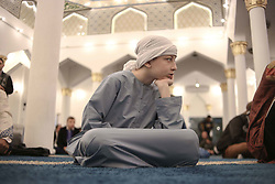 June 15, 2018 - Sao Paulo, Brazil - Muslims celebrate the beginning of Eid al Fitr, which marks the end of Ramadan, at the Mesquita Brasil, located in the Cambuci neighborhood, in the central region of Sao Paulo. (Credit Image: © Dario Oliveira via ZUMA Wire)