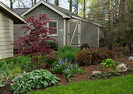 This is our neighbor Betsy and Butch Harris's beautiful garden in he spring