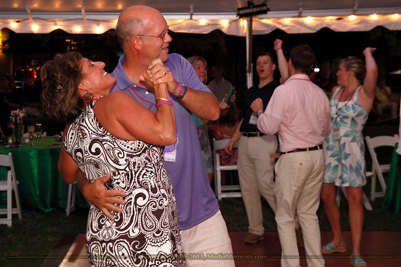 Debbie (left) & Dan Brinkman of Anthem Blue Cross and Blue Shield Ohio dance to the music of Pirates of the Caribooty during the 6th Annual Clambake for Kids' Sake benefiting Big Brothers Big Sisters of the Miami Valley at The Greene, Saturday, June 22, 2013.