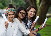 16/08/2017 Hiba Awan who got 578 (Medicine in NUI, Galway), Fatima Zafar 588, (Dentistry) and Ciara Walsh who got 613 (Pharmacy in the RCSI in Dublin) in their  leaving Certificate from Yeats College Galway  Photo:Andrew Downes, xposure .