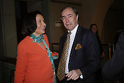 Judith Price and Christopher Forbes. Masterpieces of American Jewelry at the Gilbert Collection. Somerset House. 14 February 2005. ONE TIME USE ONLY - DO NOT ARCHIVE  © Copyright Photograph by Dafydd Jones 66 Stockwell Park Rd. London SW9 0DA Tel 020 7733 0108 www.dafjones.com