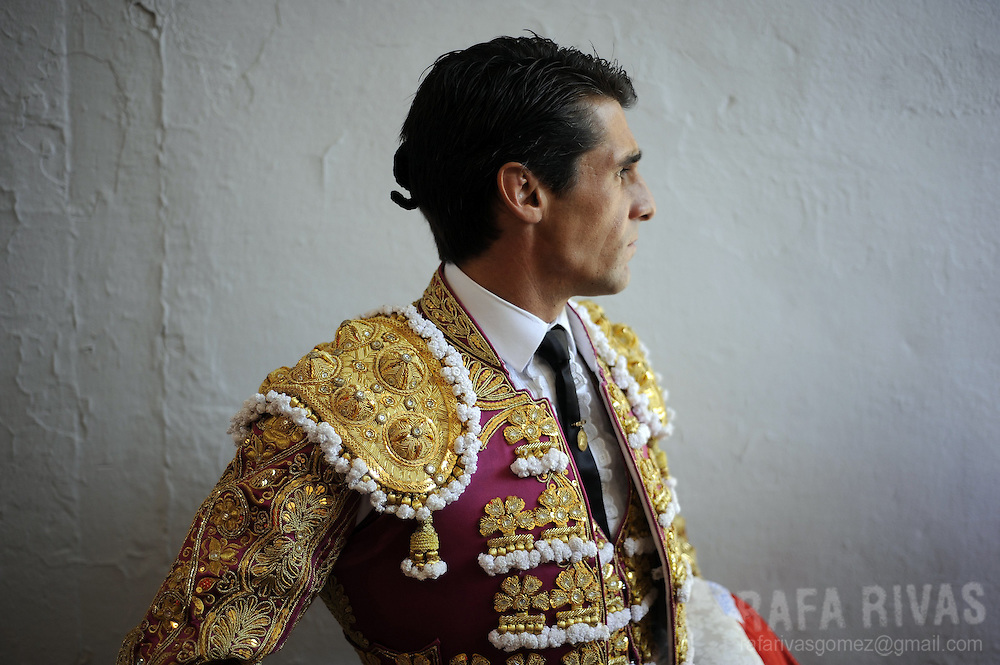 Spanish matador Francisco Marco gets ready before the third corrida of the San Fermin Festival, on July 9, 2012,  in the Northern Spanish city of Pamplona. PHOTO / Rafa Rivas