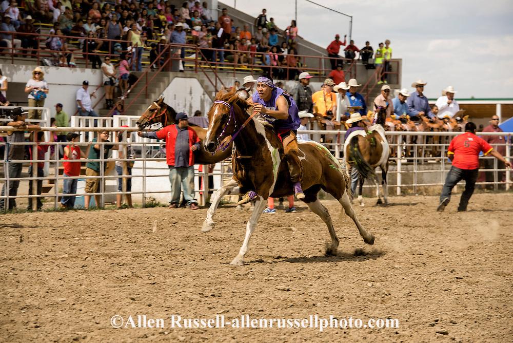 Indian Relay Horse Racing, Crow Fair Rodeo, Crow Indian Reservation, Montana