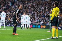 PSG Dani Alves during Eight Finals Champions League match between Real Madrid and PSG at Santiago Bernabeu Stadium in Madrid , Spain. February 14, 2018. (ALTERPHOTOS/Borja B.Hojas)