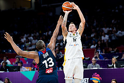 Daniel Theis of Germany during basketball match between National Teams of Germany and France at Day 10 in Round of 16 of the FIBA EuroBasket 2017 at Sinan Erdem Dome in Istanbul, Turkey on September 9, 2017. Photo by Vid Ponikvar / Sportida