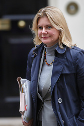 © licensed to London News Pictures. London, UK 05/12/2013. Interantional Development Secretary, Justine Greening attending to a cabinet meeting in Downing Street on Thursday, 5 December 2013 ahead of the autumn statement. Photo credit: Tolga Akmen/LNP